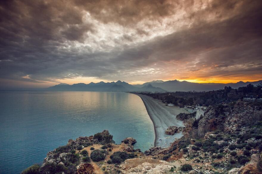 Залез над турски курорт